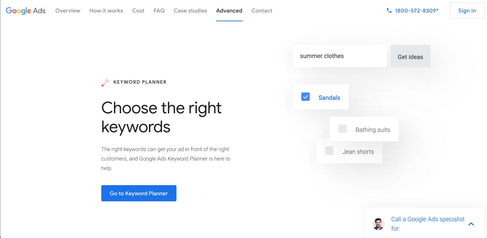 Google Ads Keyword Planner