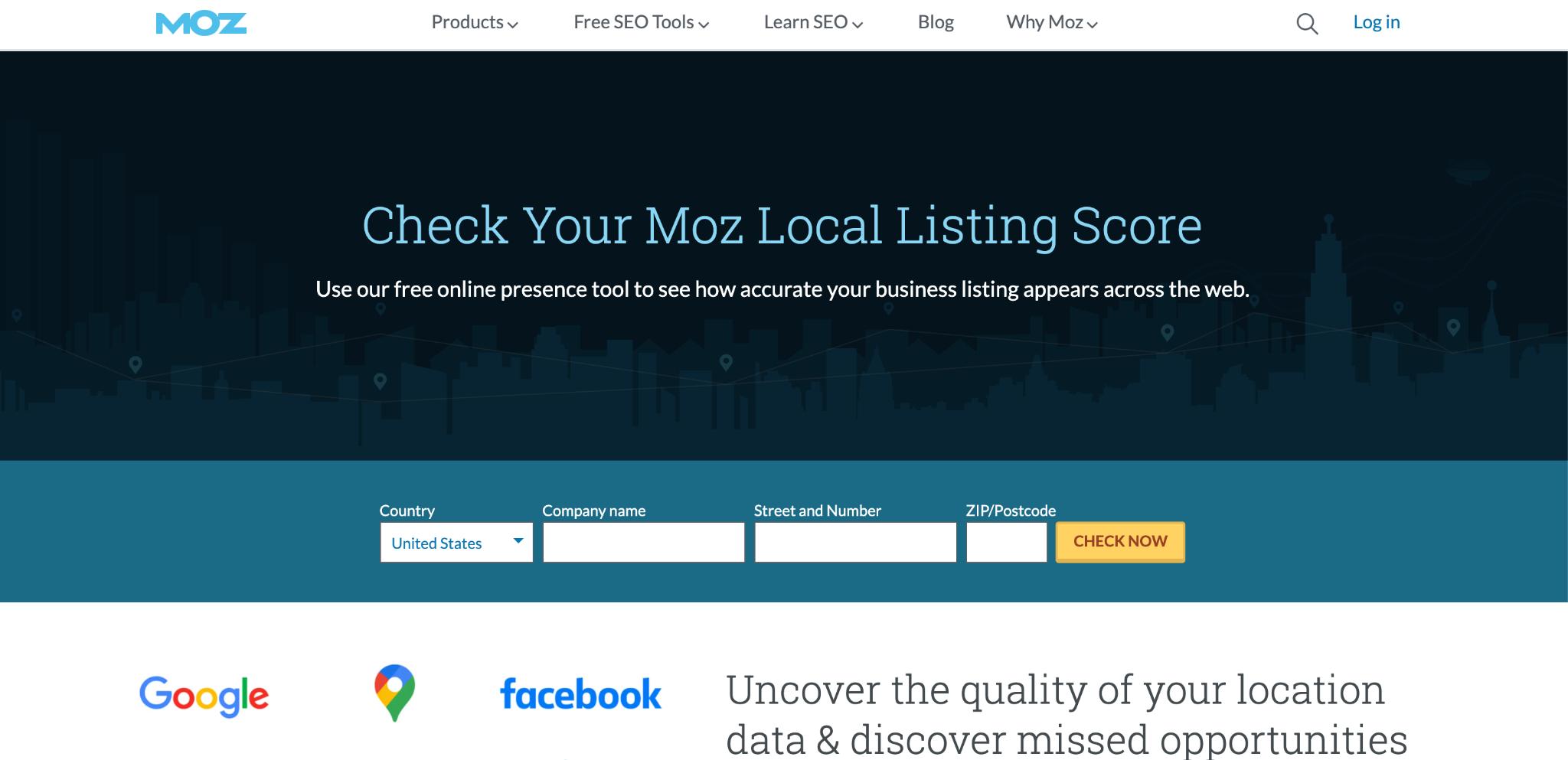 Moz Local Listing Score