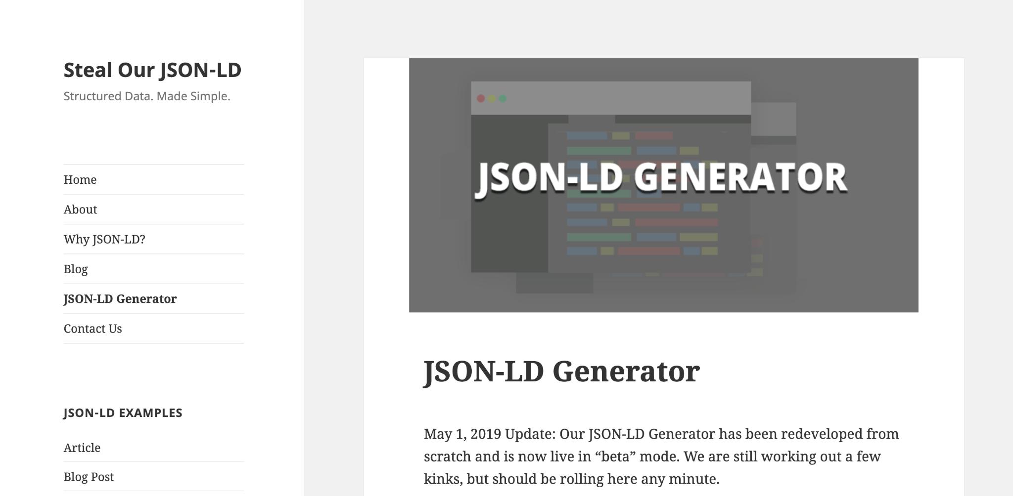 JSON-LD Schema Generator for SEO