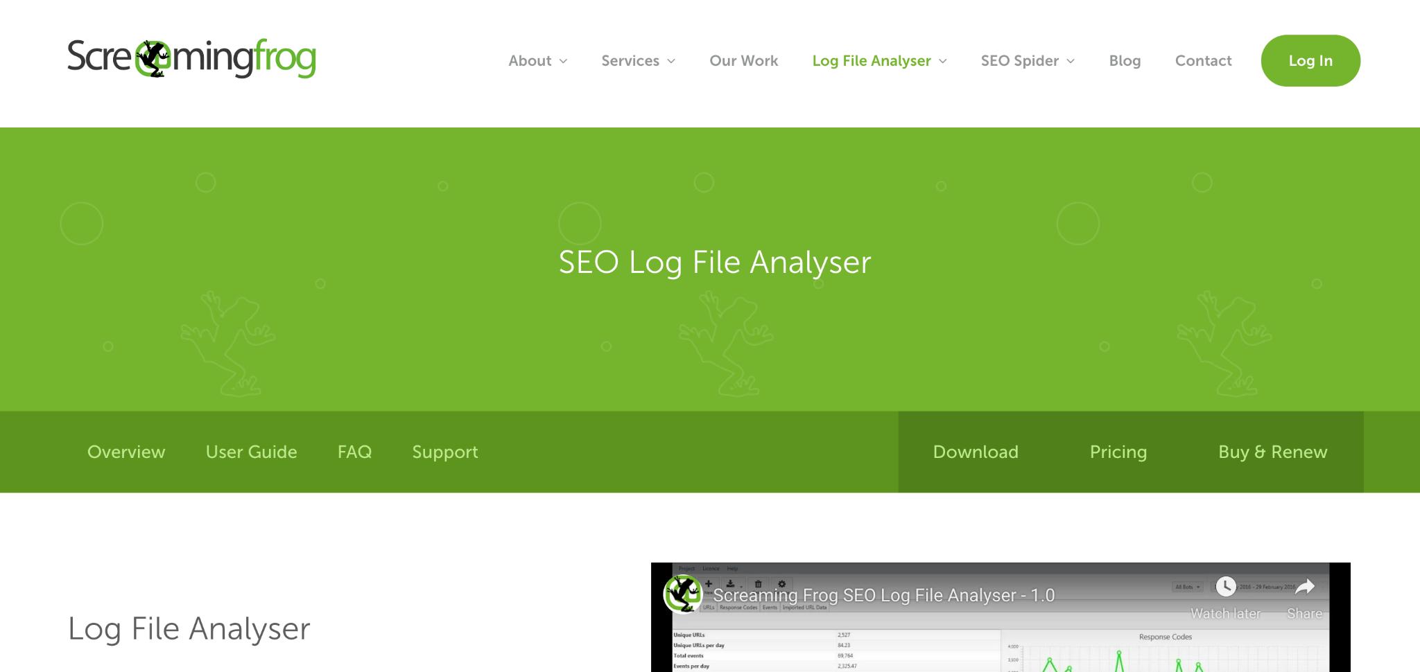 Screaming Frog SEO Log File Analyser