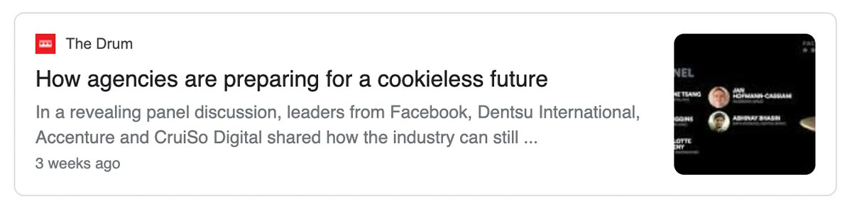 Article: How agencies are preparing for a cookieless future