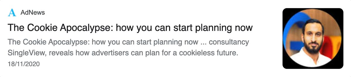 Article: The cookie apocalypse: how you can start planning now