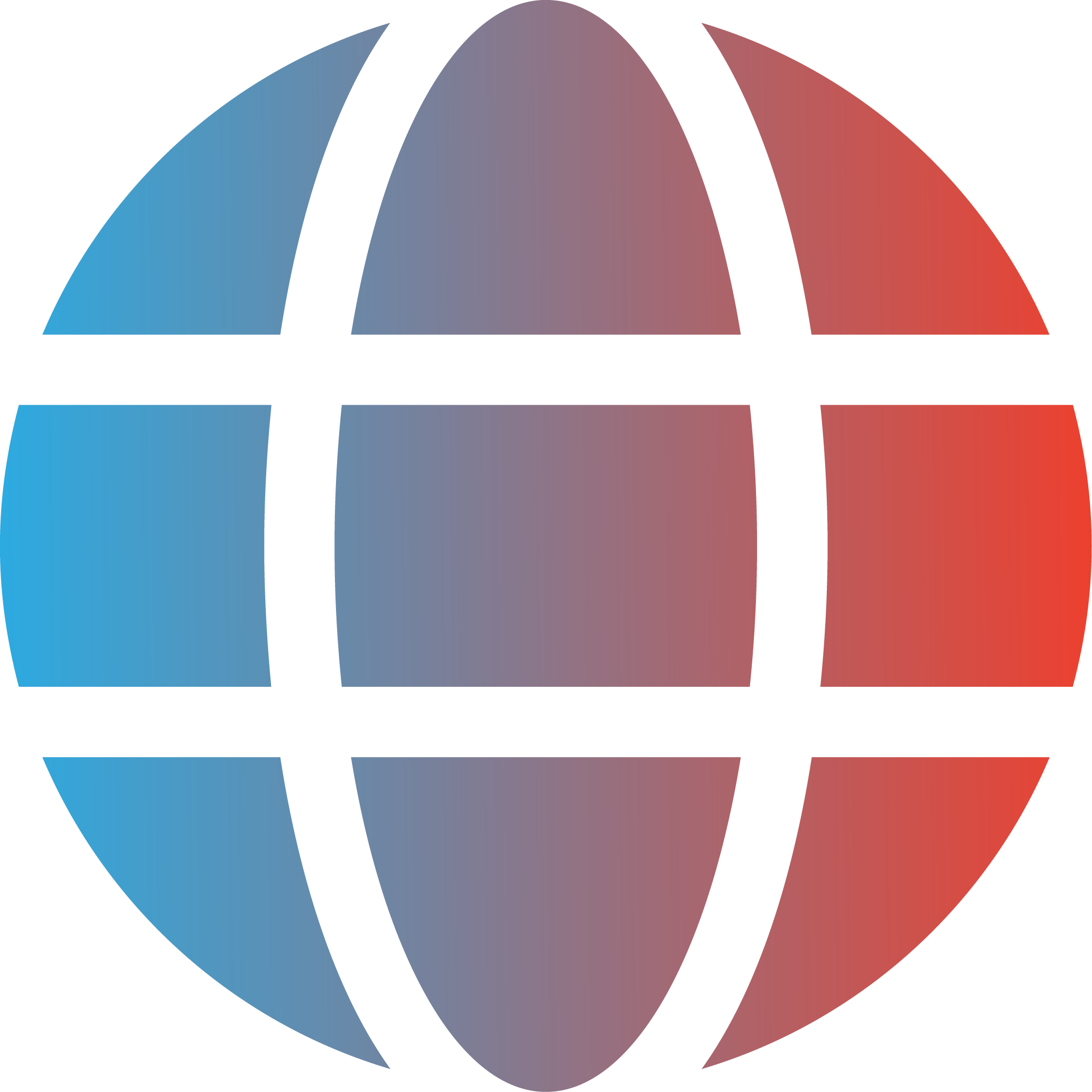 Globe icon in a blue and red gradient