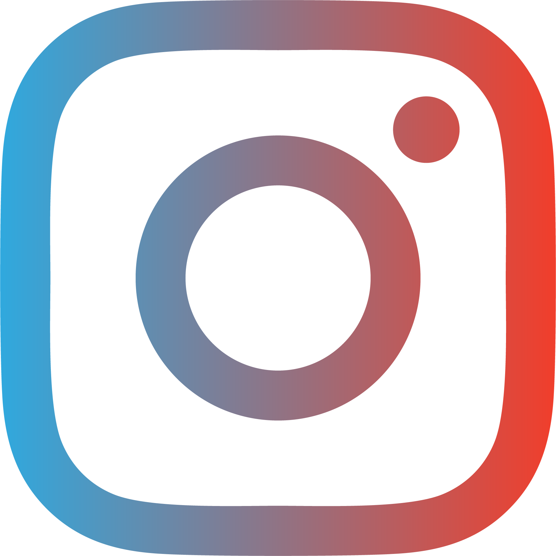 Instagram icon in a blue and red gradient
