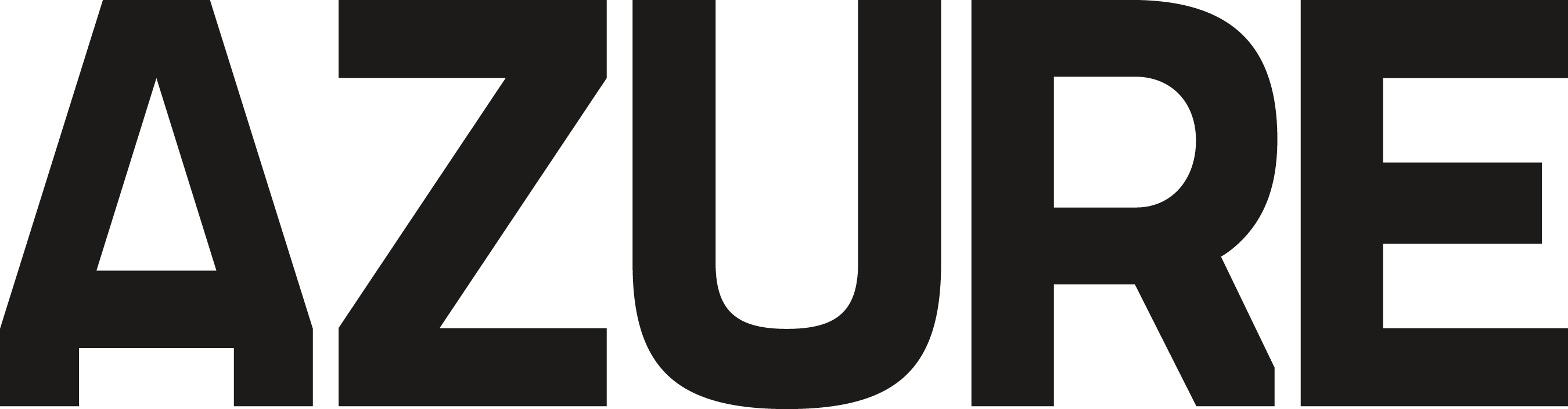 Azure logo written out in all black text.