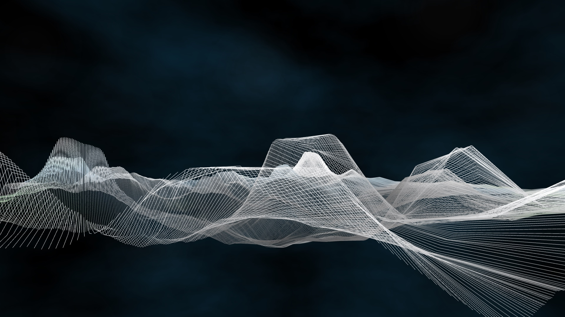 A digital drawing of white lines forming a transparent illusion.