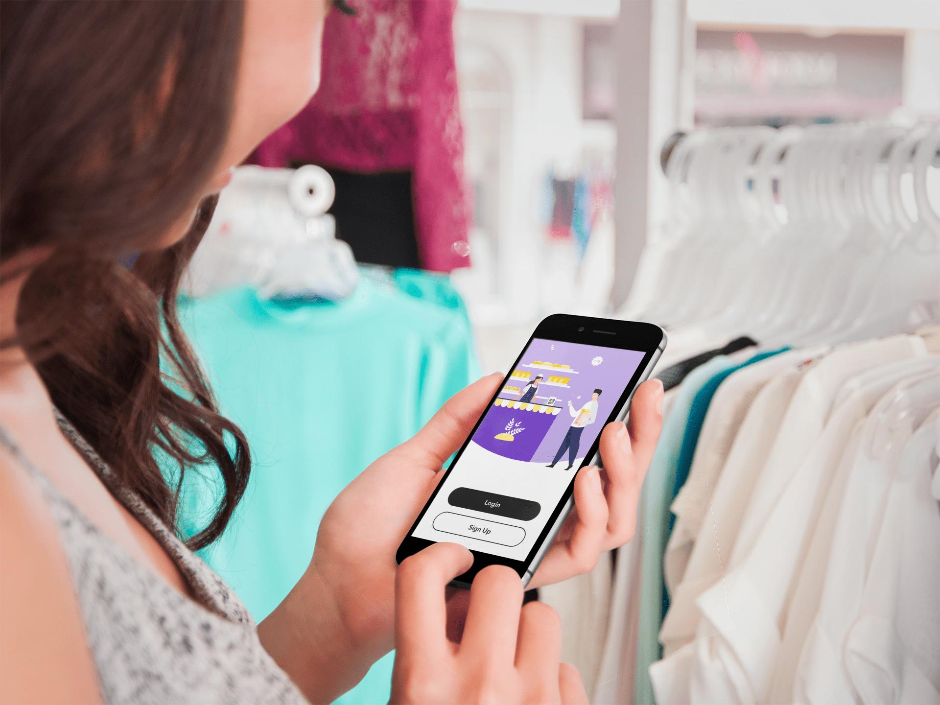 AIO App Girl Holding Phone with App