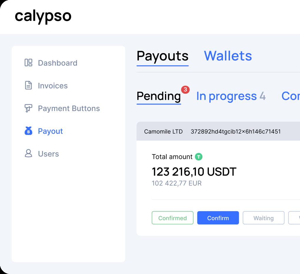 Payouts tracking mockup