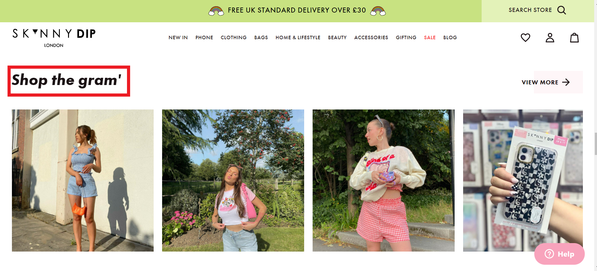 SkinnyDip London's 'Shop the gram'' look paves the way for a convenient shopping experience