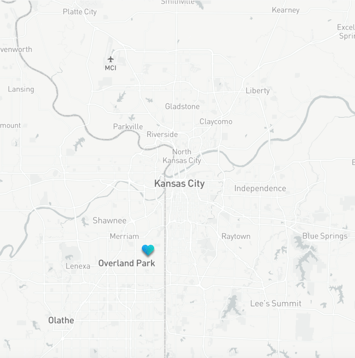A map of the Kansas City area showing Aspiria's location in context.