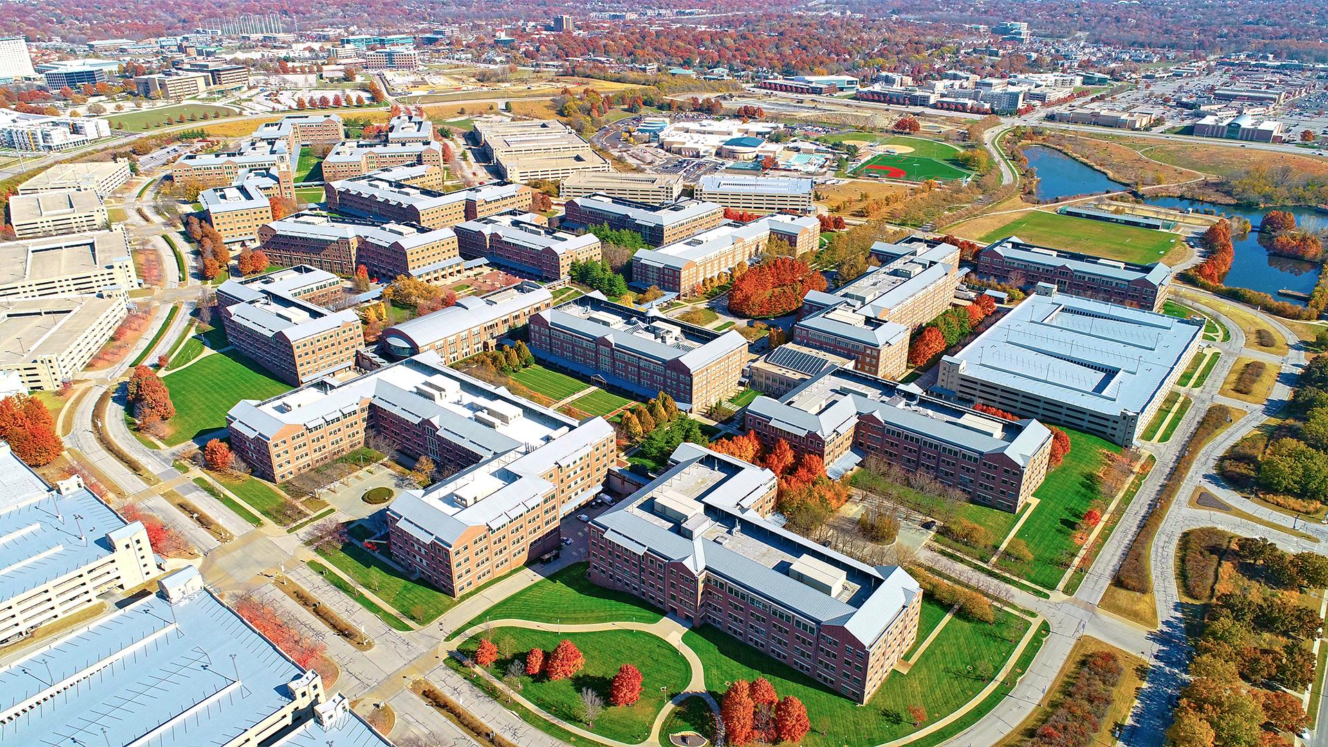 Ariel image of the Aspiria office campus