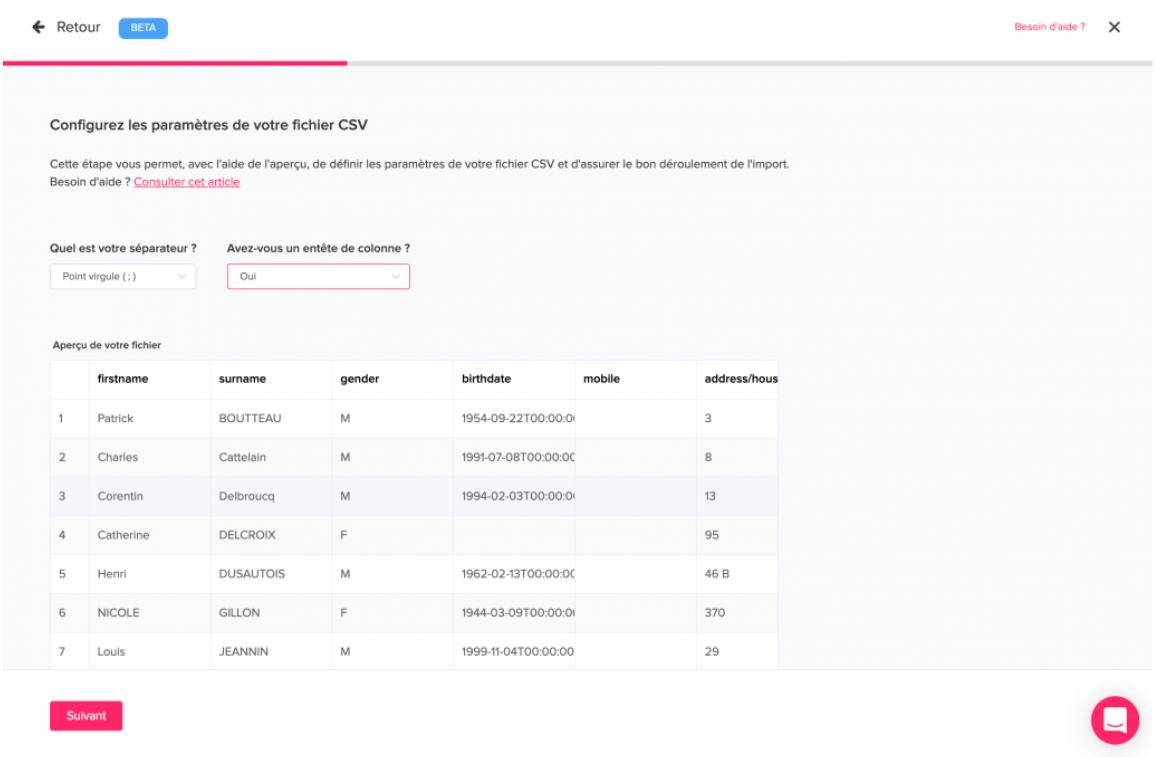importer fichiers plateforme web Qomon