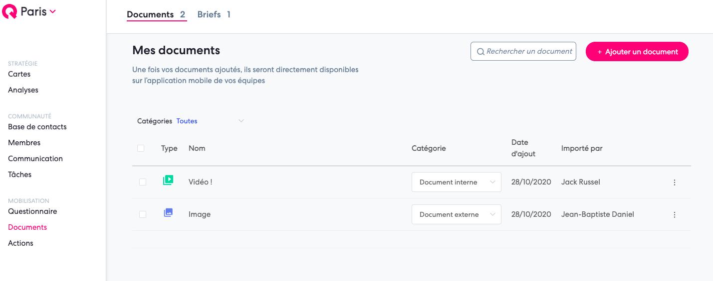 partager documents nouveauté qomon app mobile