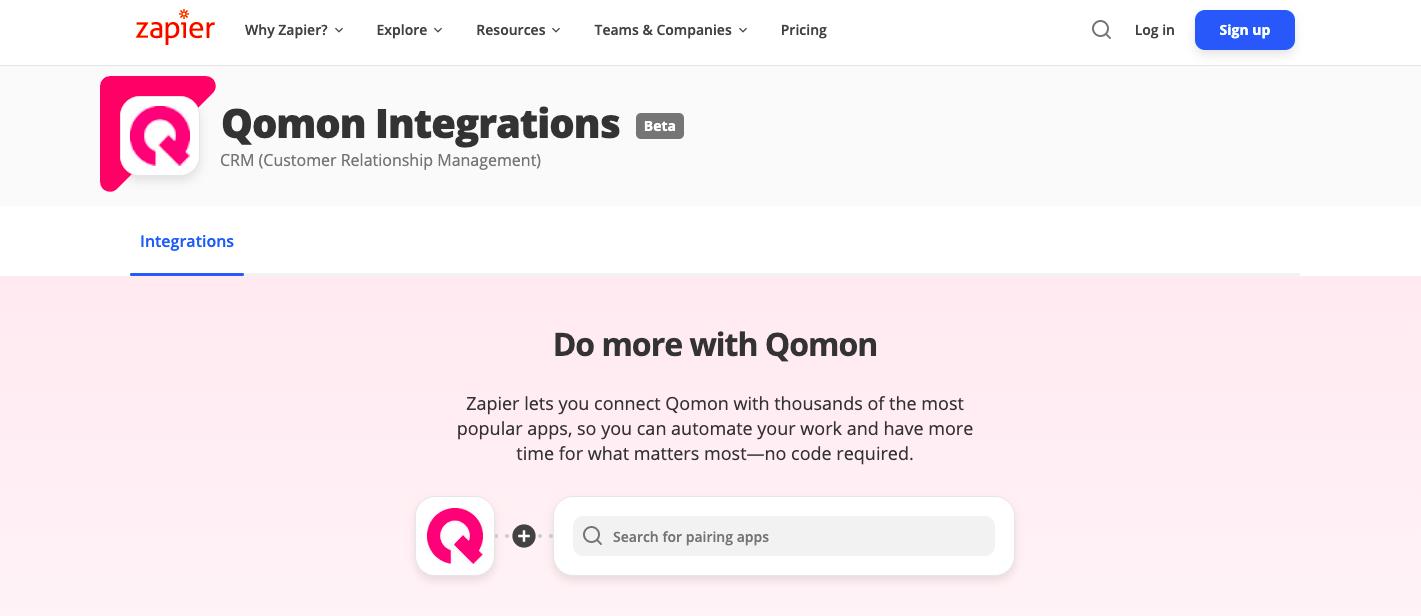 integration qomon zapier mobile app web platform mobilisation updates