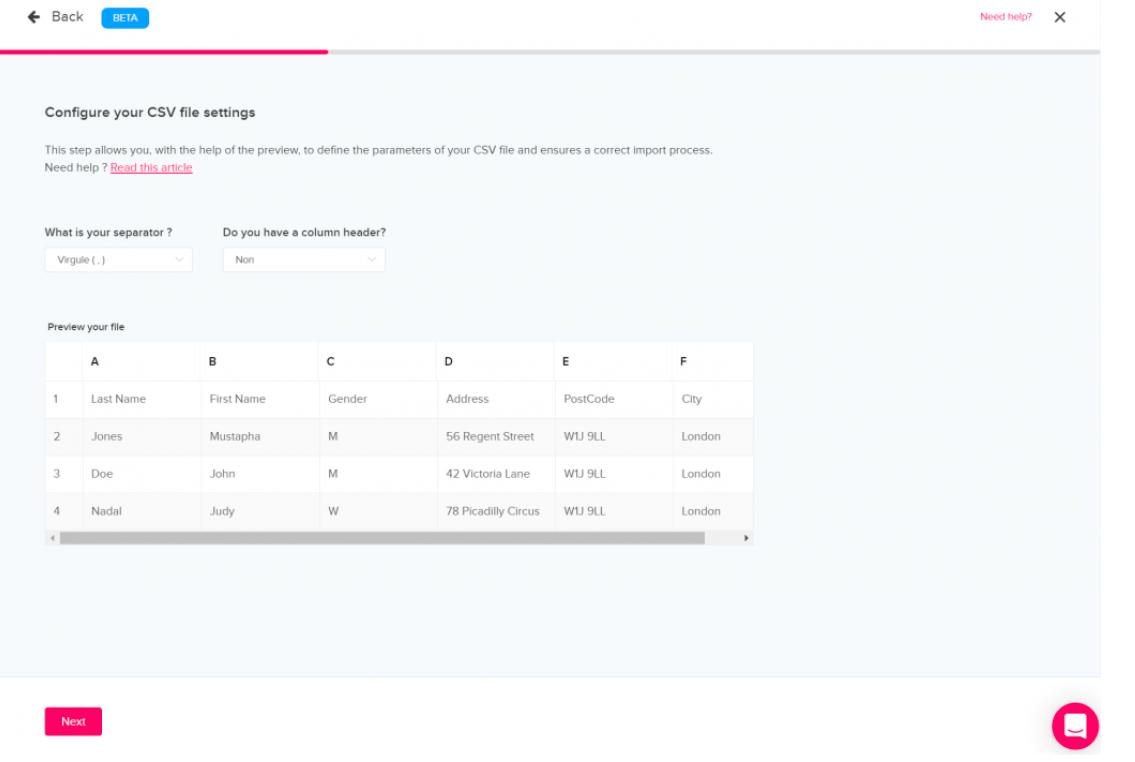 import files qomon platform web