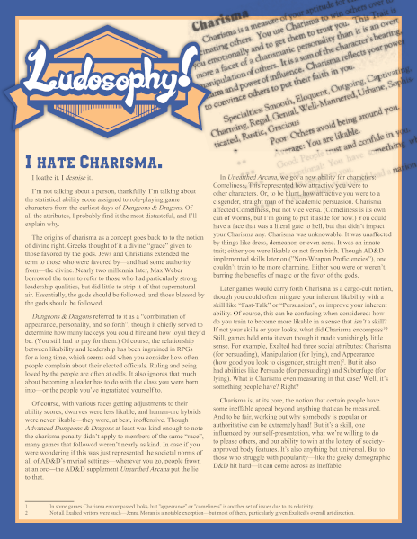 Patreon Sample - Ludosophy Article #1