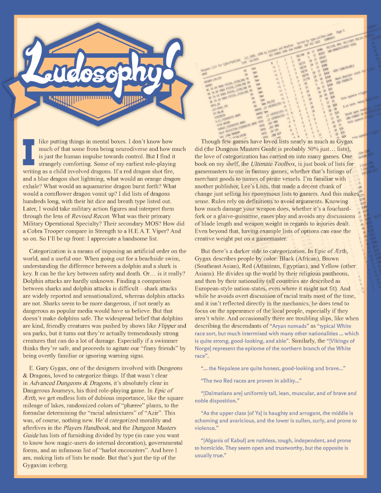 Patreon Sample - Ludosophy Article #2