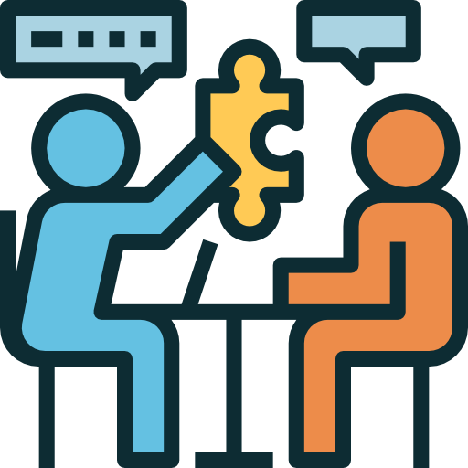 Negotiations Icon. We work together to get you the best deals with your Vendors.