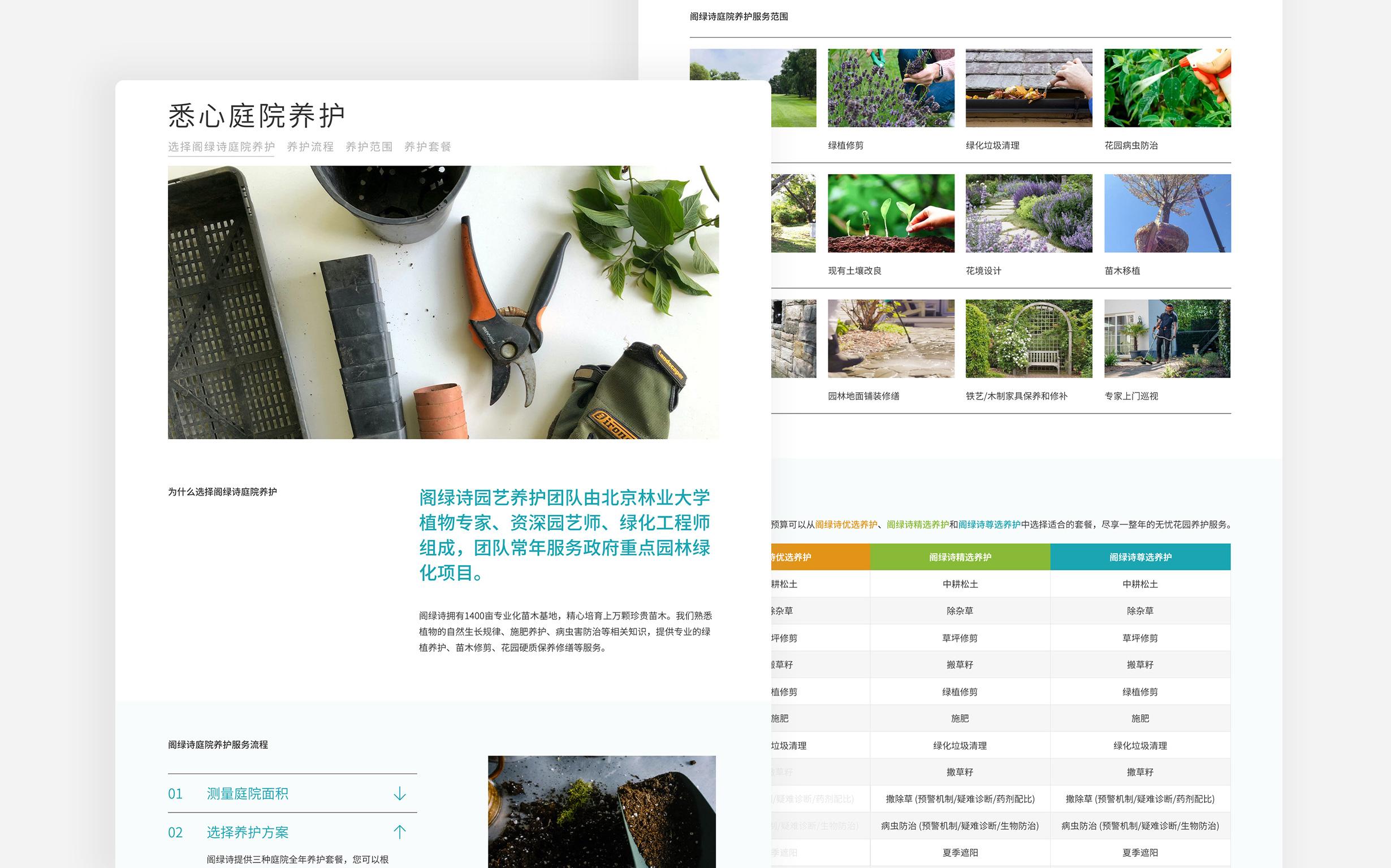 Ge Greens Website - Garden Maintenance page