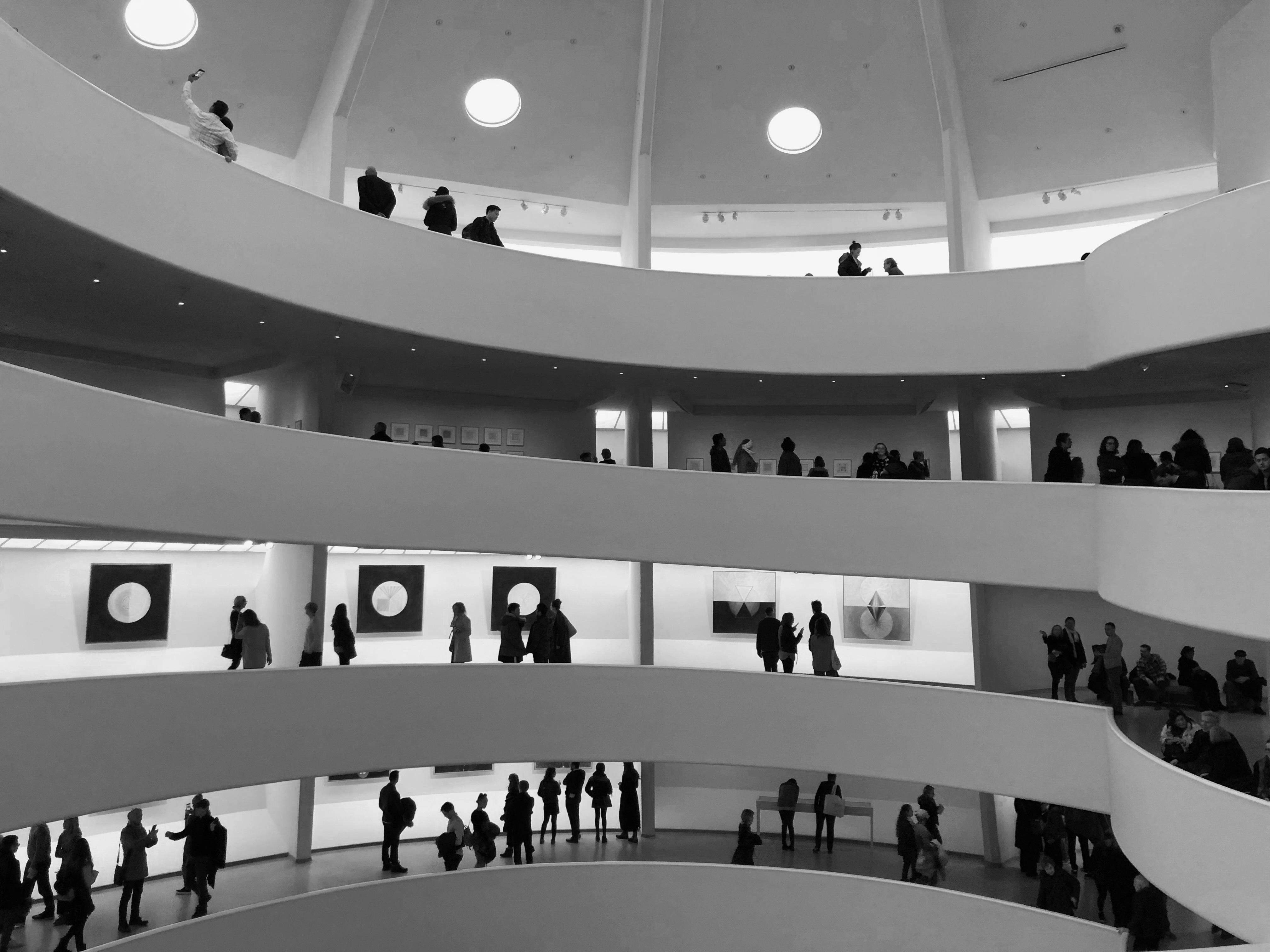 Photo - People Walking in Guggenheim Museum
