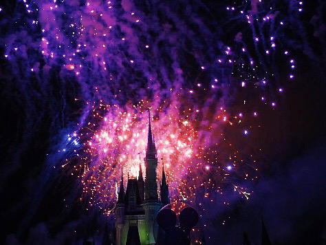 Photo - Disney fireworks above the castle