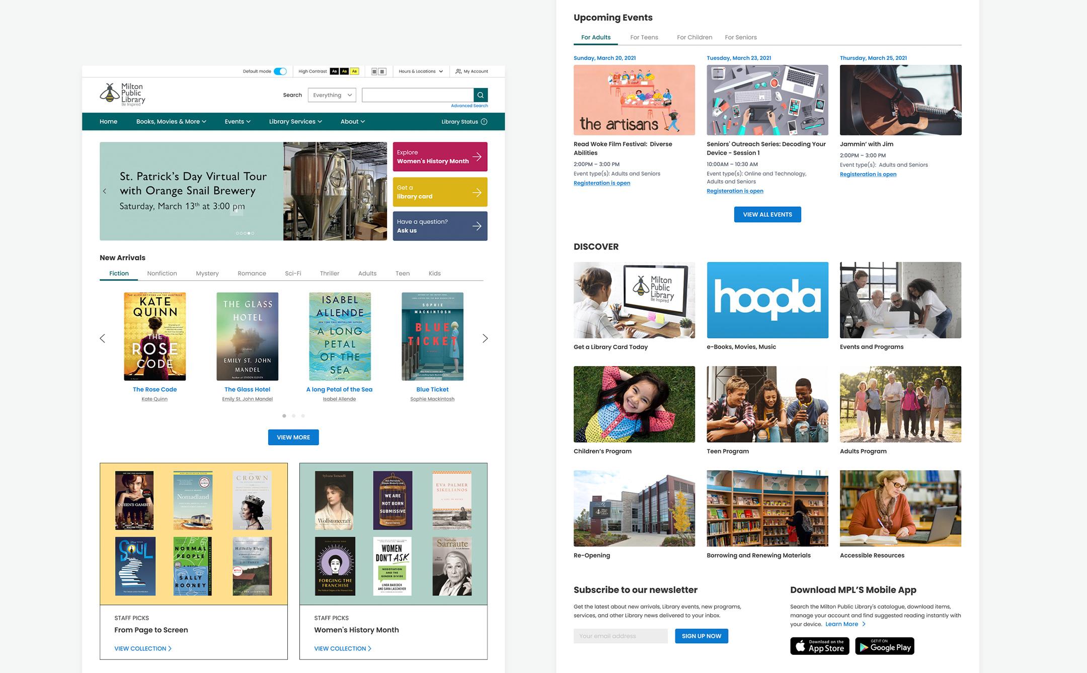 Milton Public Library Homepage
