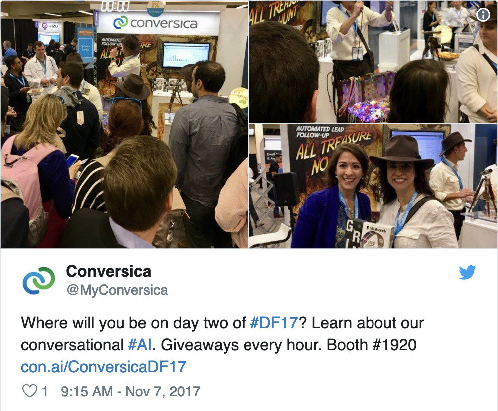 Conversica crowd at Dreamforce 2017