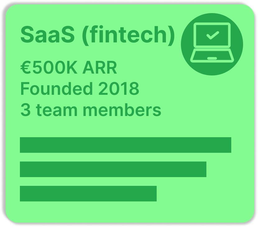 SaaS fintech startup with three founders