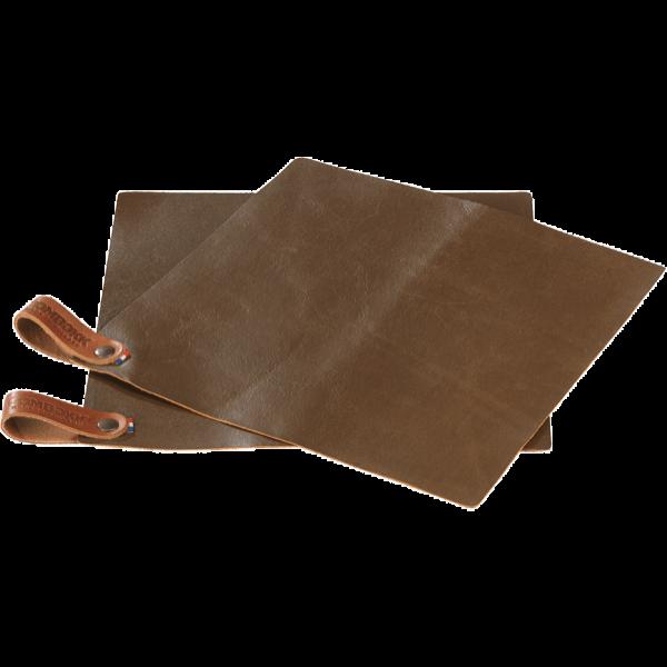 Pot Holder Leather - set of 2 Rust