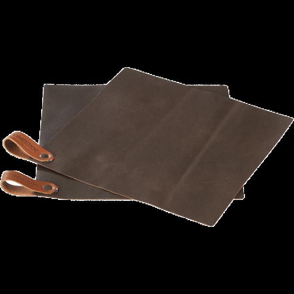 Pot Holder Leather - set of 2 Brown