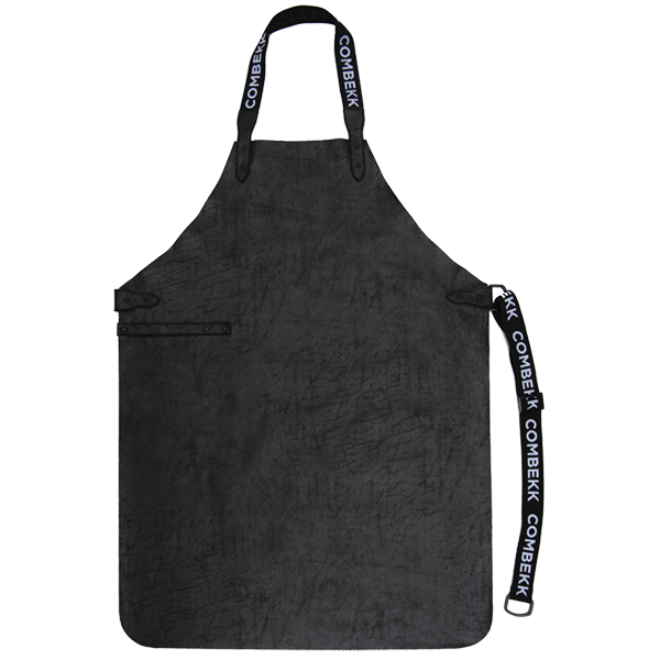 Recycled Leather Apron Black