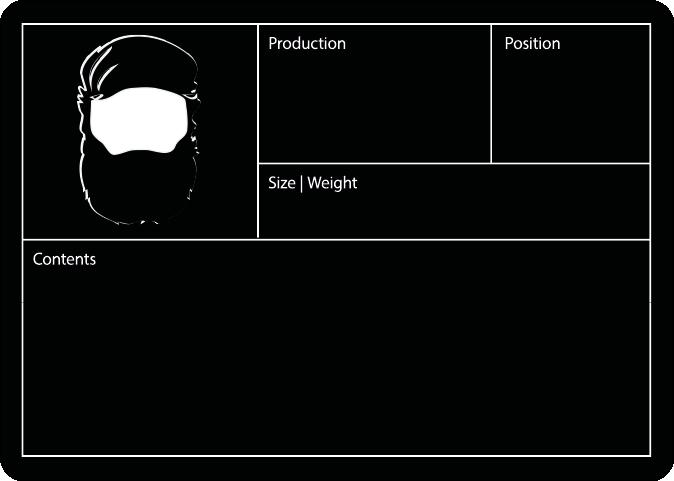 Flight Case label example Black Beard
