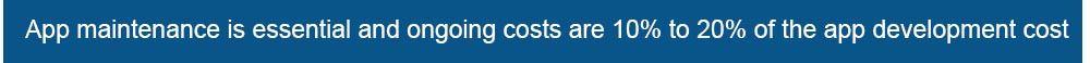 app maintenance costs