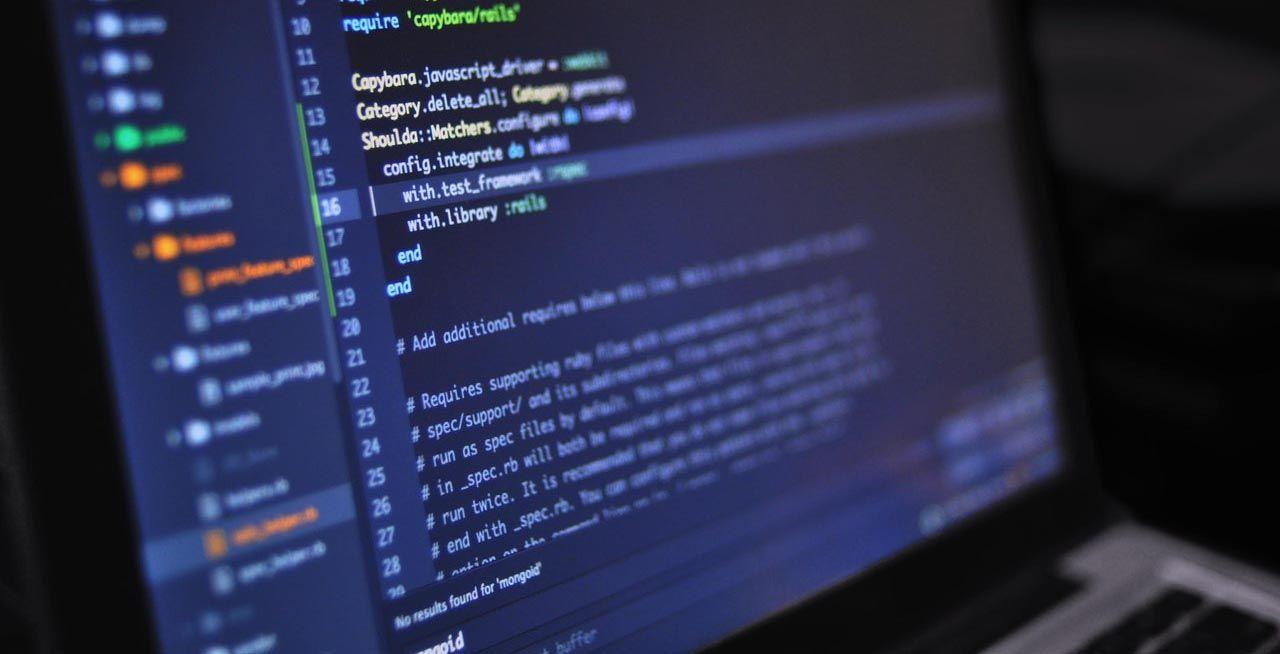 hand written code on a computer screen
