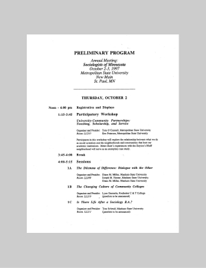 Program for SOM Conference 1997
