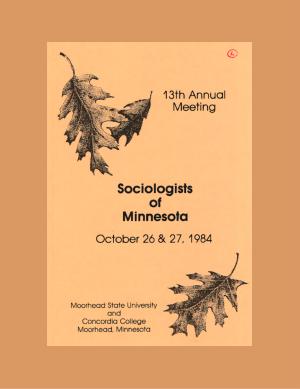 Program for SOM Conference 1984