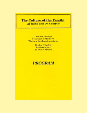 Program for SOM Conference 2003