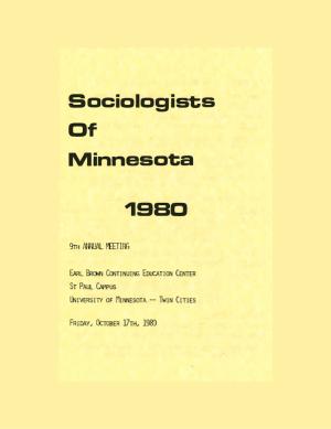 Program for SOM Conference 1980