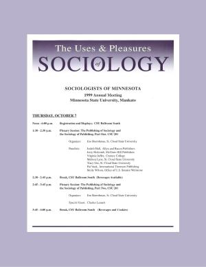 Program for SOM Conference 1999