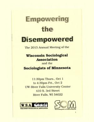 Program for SOM Conference 2015
