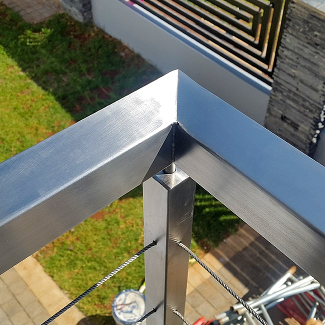 Square steel railings for sale
