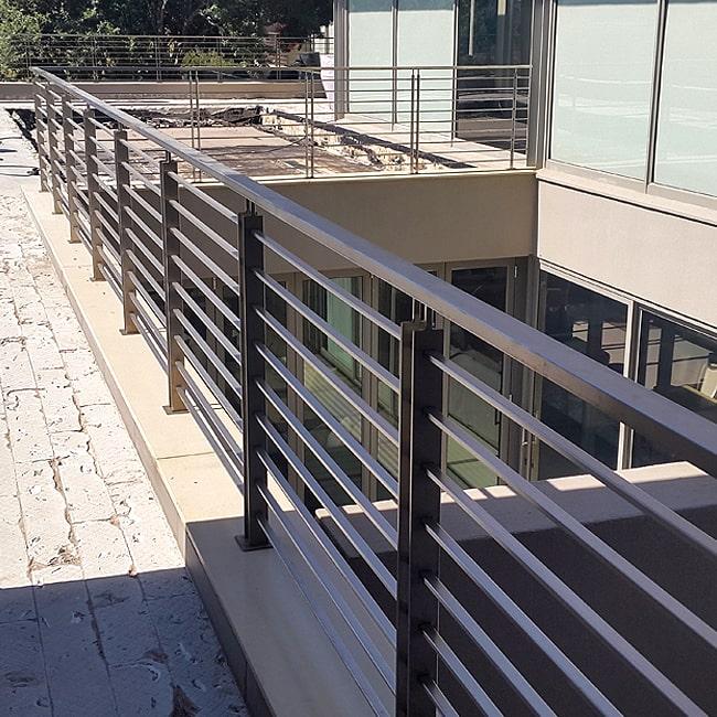 Mild steel balcony railings