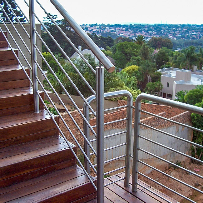 Solid steel safety rails