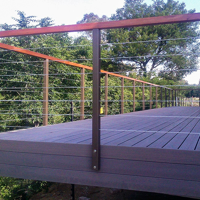 Stainless Steel cable railings for decking