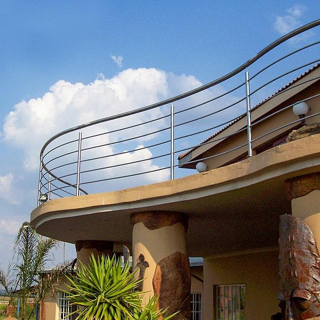 Curved steel balcony installations Gauteng