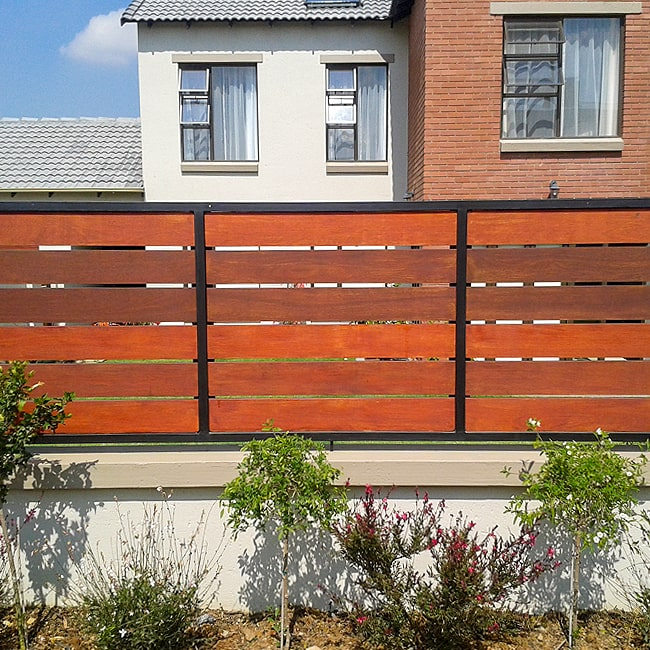 Wood and steel fencing for sale