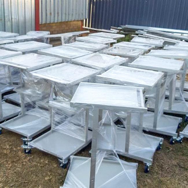Custom made steel trolleys