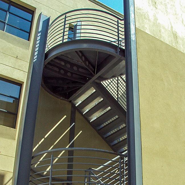 Fire escape safety railings commercial