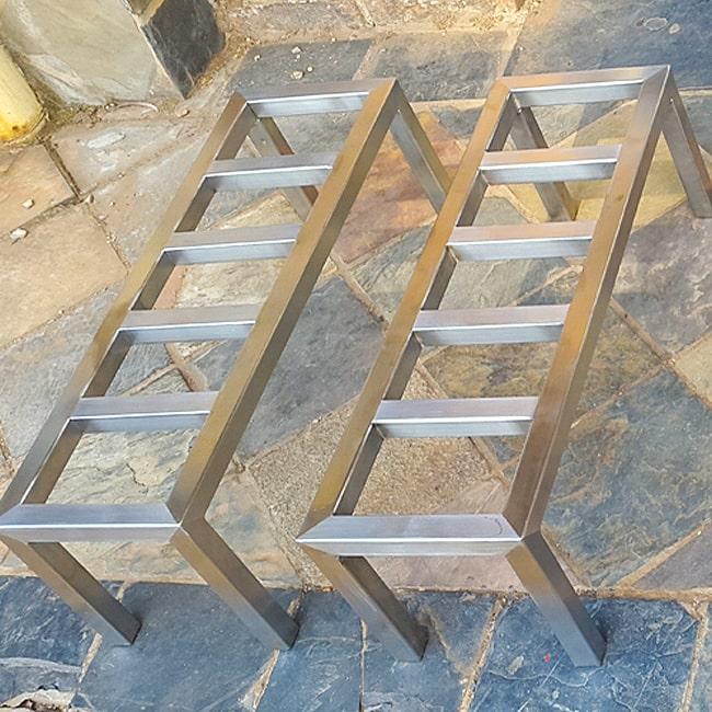 Hand built steel table