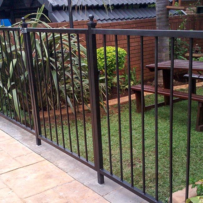 Metal patio railings